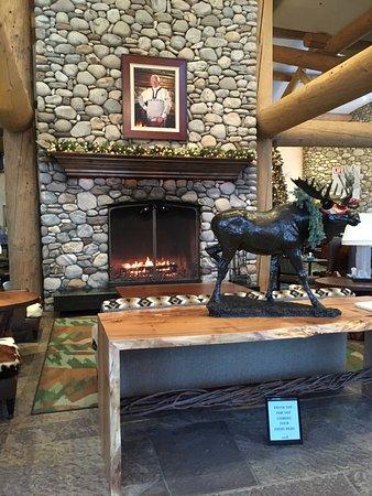 fireplace inside the