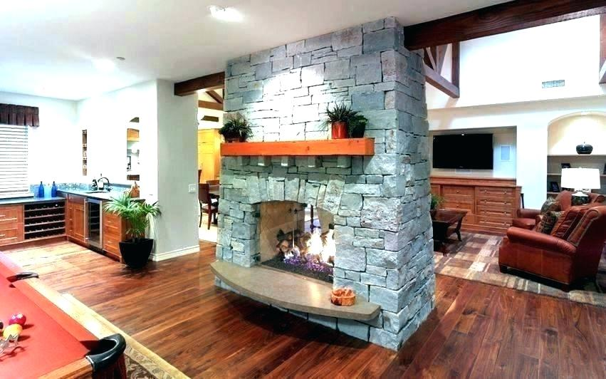 inside outside fireplace tv stand bobs double sided not see through two