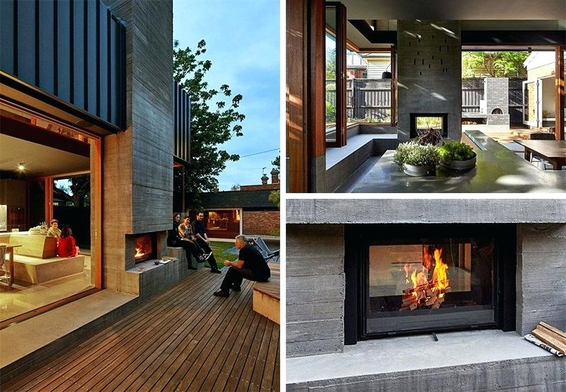 inside outside fireplace screens with glass doors charming double sided
