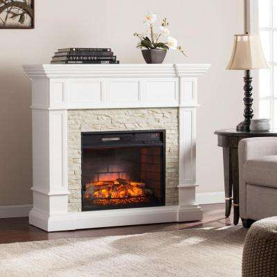Electric Fireplace Corner Unit Unique Amesbury 45 5 In W Corner Convertible Infrared Electric Fireplace In White