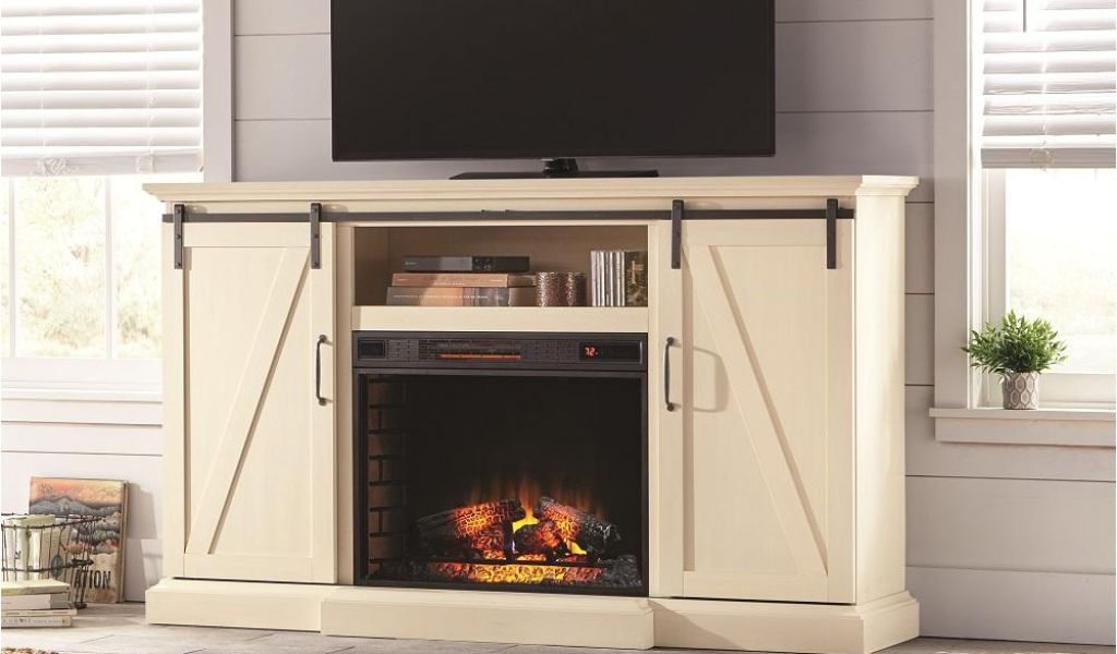 fireplace accessories stores near me chestnut hill 68 in tv stand electric fireplace with sliding barn door in ivory of fireplace accessories stores near me 1024x600