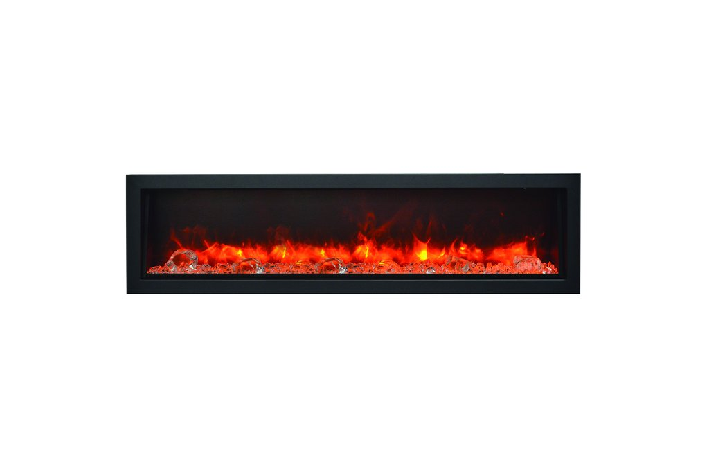 Electric Fireplace Heater Home Depot Unique Amantii Panorama 60 Inch Deep Built In Indoor Outdoor Electric Fireplace