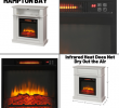 Electric Fireplace Heater with Mantle Best Of White Infrared Electric Fireplace Heater Mantel Tv Stand Media Cent Led Flame