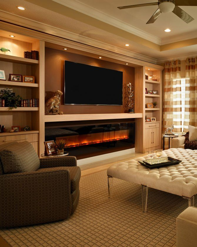 Electric Fireplace Ideas with Tv Above Beautiful Glowing Electric Fireplace with Wood Hearth and Mantel