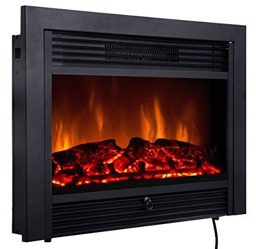 """Electric Fireplace Insert Installation Unique Giantex 28 5"""" Electric Fireplace Insert with Heater Glass"""