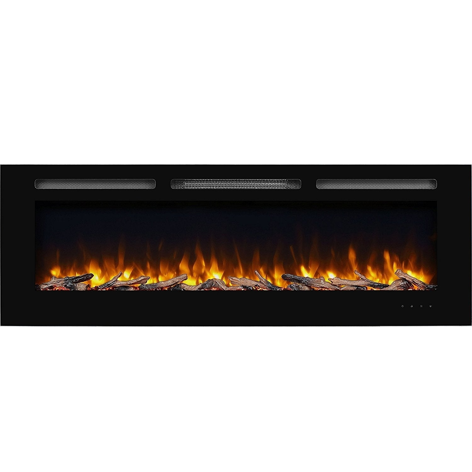 """Electric Fireplace Insert with Heater Fresh 60"""" Alice In Wall Recessed Electric Fireplace 1500w Black"""