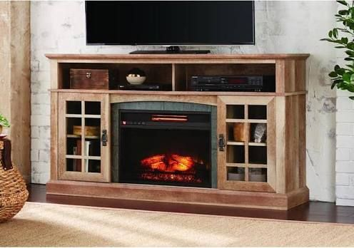 Electric Fireplace Media Console Elegant Electric Fireplace Tv Stand House