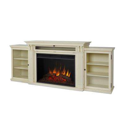 distressed white real flame fireplace tv stands 8720e dsw 64 400 pressed