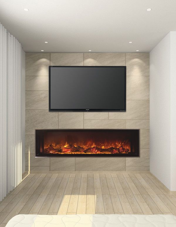 """Electric Fireplace Modern Unique Modern Flames 60"""" Landscape 2 Series Built In Electric"""