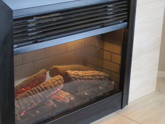 electric fireplace in