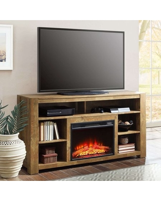 better homes and gardens bryant media fireplace console television stand for tvs up to 65 rustic brown finish