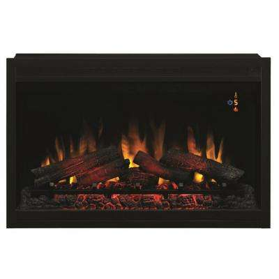 Energy Efficient Electric Fireplace New 36 In Traditional Built In Electric Fireplace Insert