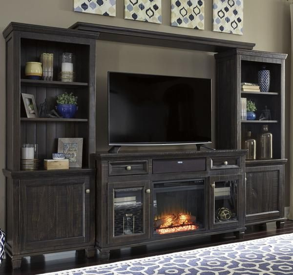 Entertainment Center with Fireplace Insert Best Of townser 4pc Entertainment Set In 2019