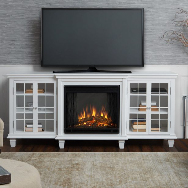 entertainment center with fireplace insert plans 615x615
