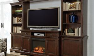 16 Beautiful Entertainment Wall Unit with Fireplace