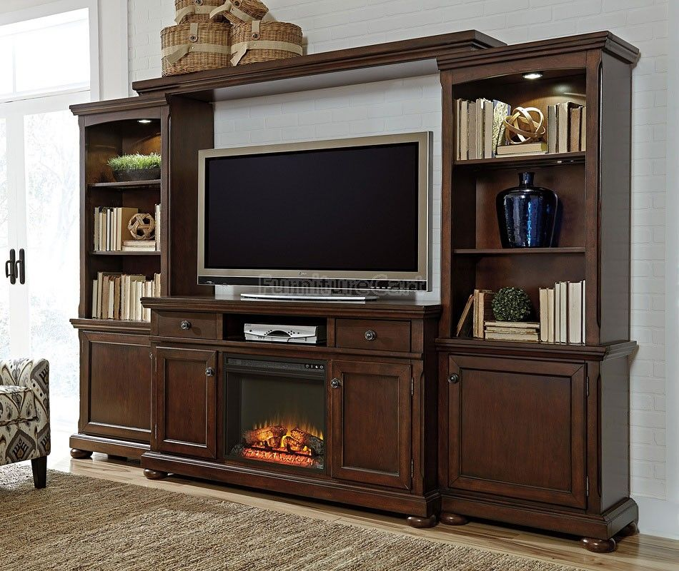 Entertainment Wall Unit with Fireplace Awesome Porter Extra Entertainment Wall W Fireplace In 2019