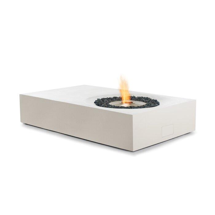 Equinox Concrete Bio ethanol Fuel Fire Pit Table