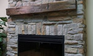25 Lovely Faux Stone Fireplace Mantels