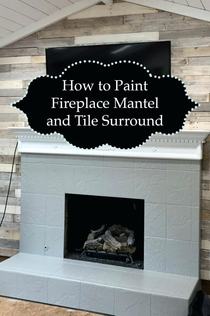 gray fireplace mantel how to paint and tile surround