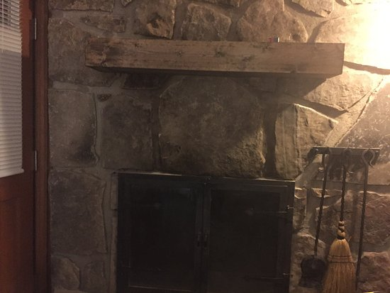 black soot on fireplace