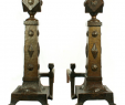 Fireplace andirons Awesome Arts & Crafts Brass andirons Fireplace Fun In 2019