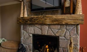 11 Elegant Fireplace Beam Mantel