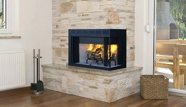 corner wood burning fireplace inserts with blower superior custom series multi sided fireplaces