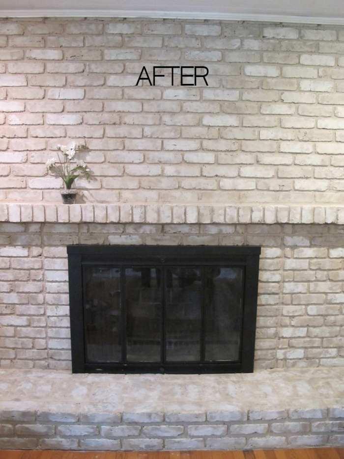 refresh brick fireplace