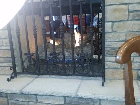 cute little fireplace