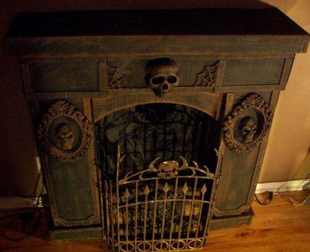0d5a29c47e1555f7b1b d7f1438b faux fireplace halloween fireplace