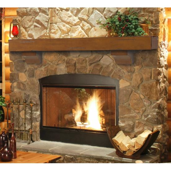 Shenandoah Cherry Rustic Distressed Fireplace blaq 0d