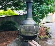 "Fireplace Constructions Fresh Huge 54"" Vintage solid Steel Wood Burning Chiminea Fire Pit"