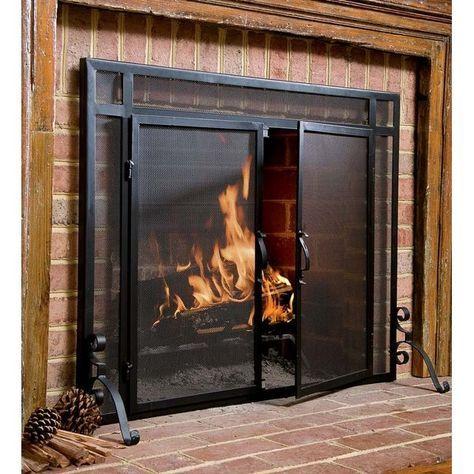 Fireplace Cover Screen Luxury Single Panel Steel Fireplace Screen In 2019