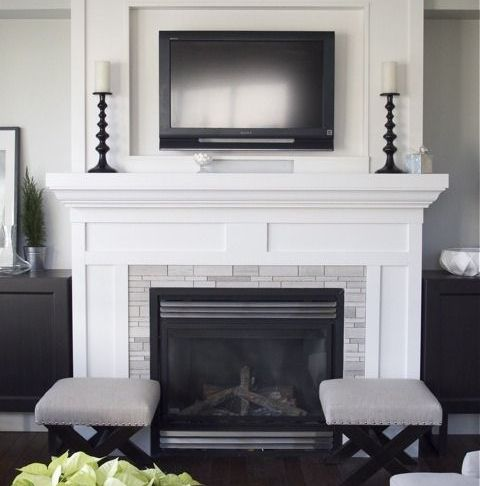 Fireplace Designs New Tv Inset Over Fireplace No Hearth Need More Color Tho