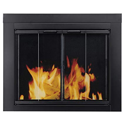 Fireplace Door Glass Best Of Pleasant Hearth at 1000 ascot Fireplace Glass Door Black Small