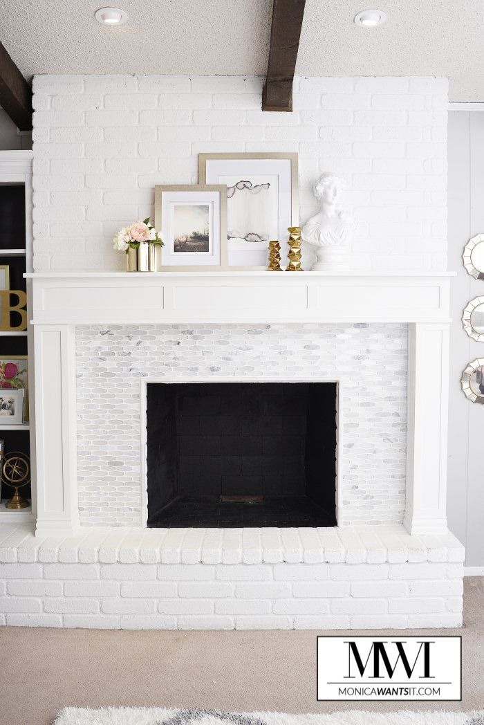 Fireplace Facing Awesome Diy Marble Fireplace & Mantel Makeover