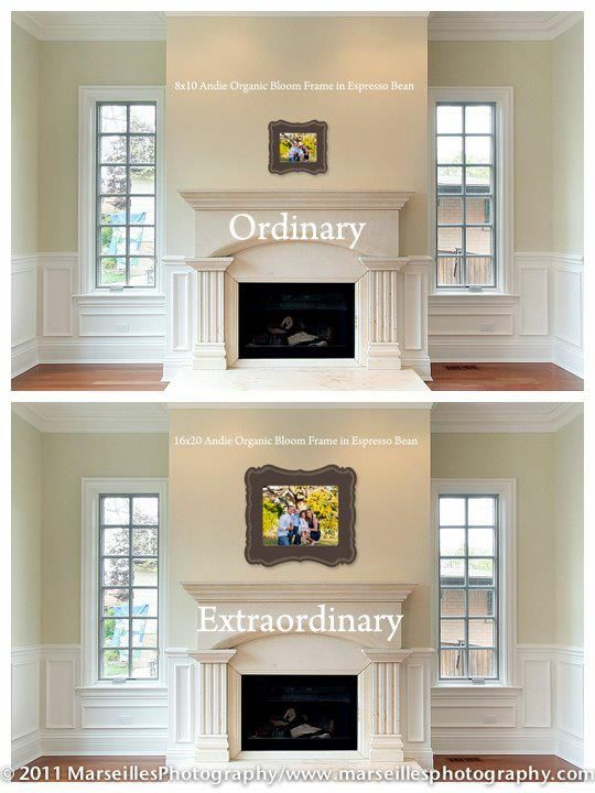 Fireplace Framing Lovely 8x10 Vs 16x20 Big Difference the Wall