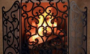 10 Beautiful Fireplace Gates