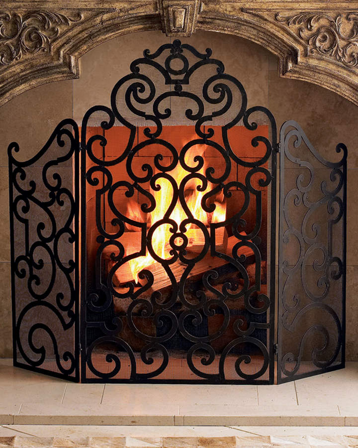 Fireplace Gates Unique Fireplace Screen Tuscan & Mediterainian Inspired
