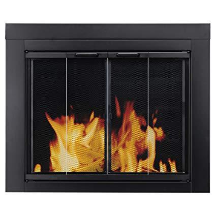 Fireplace Glass Door Installation Best Of Pleasant Hearth at 1000 ascot Fireplace Glass Door Black Small