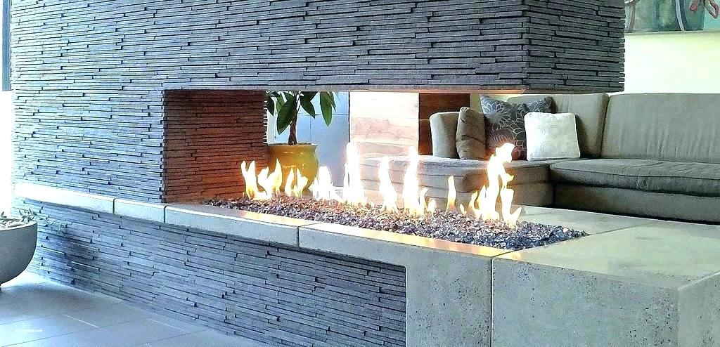 river rock fire pit outdoor gas glass rocks filler