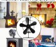 Fireplace Hardware Inspirational 5 Blade Heat Powered Wood Stove Fan 1100rpm Ultra Quiet Fireplace Wood Burning Eco Fan