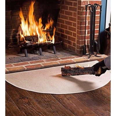 """Fireplace Hearth Rug Luxury Flame Resistant Half Round Hearth Fireproof Rug 27""""x 48"""