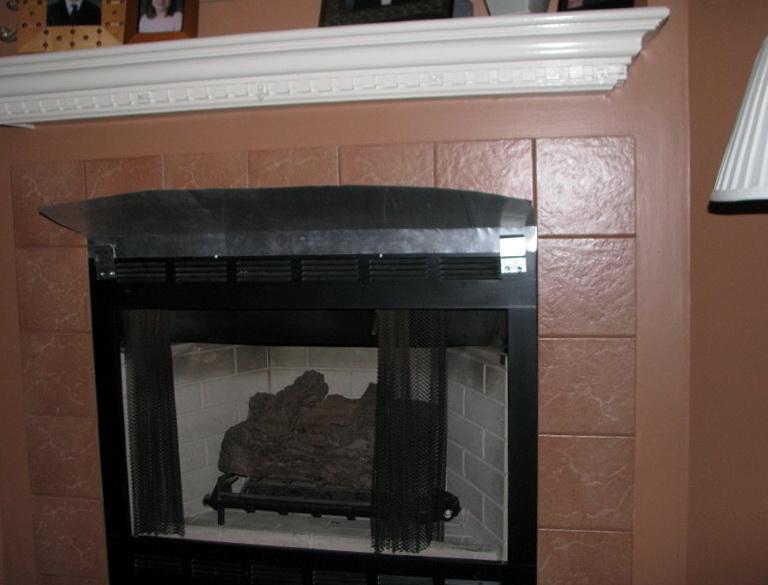 fireplace heat reflector shield