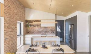 19 Awesome Fireplace In Kitchen