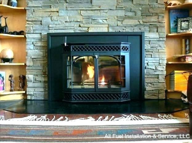 wood burning fireplace installation cost stove insert