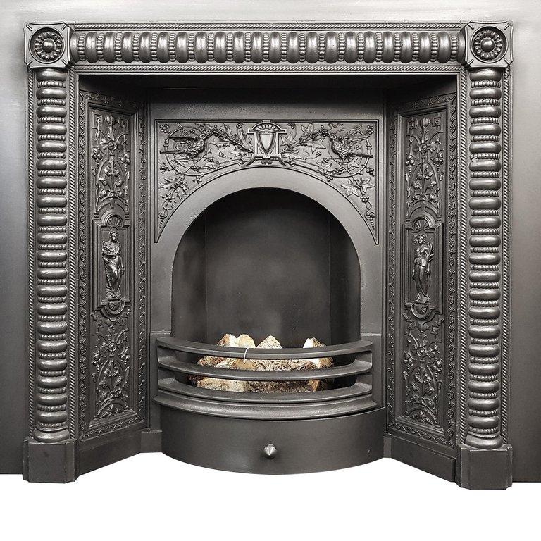 Fireplace Iron Grate Inspirational Decorative Cast Fireplace Insert In 2019