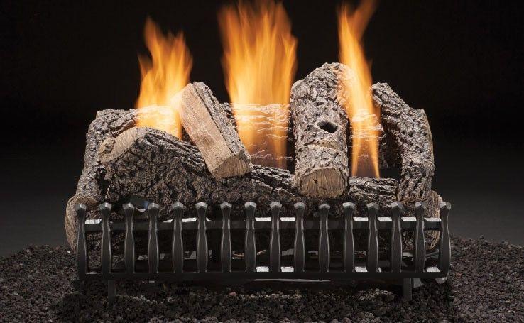 Fireplace Log Sets Luxury Classic Oak 18 Inch Vent Free Gas Log Set