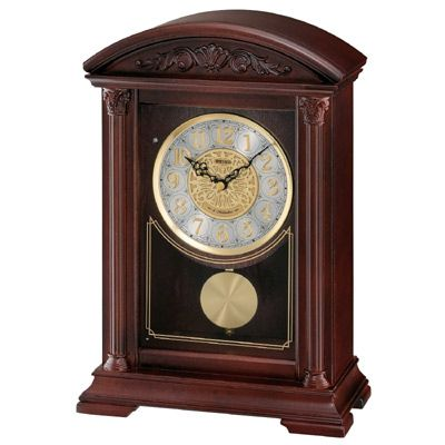 Fireplace Mantel Clocks Inspirational Seiko Qxw217blh Features An Elegant Brown Wooden Finish with