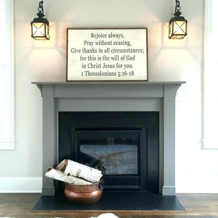 painted fireplace mantels painting mantel gray here grey chalk od within mantle idea